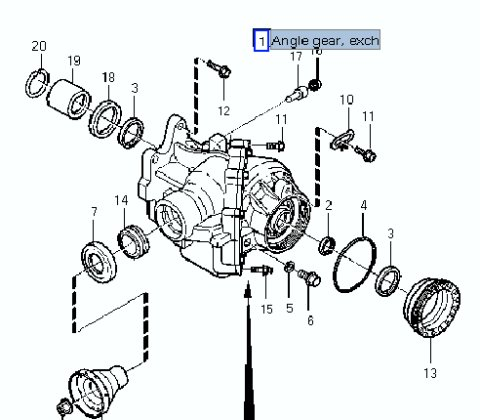 Diagram Of Volvo Angle Gear. Volvo. Auto Parts Catalog And