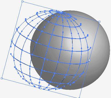 digital globe with sunburst effect