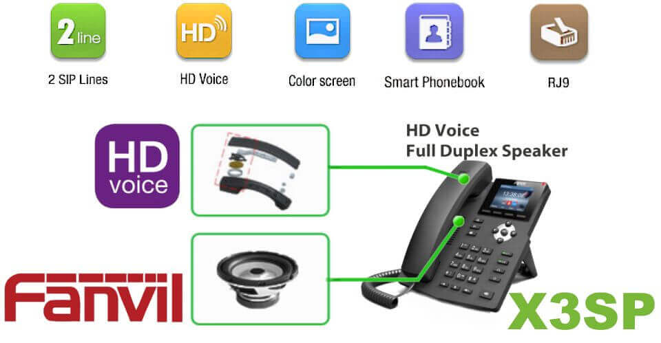 Fanvil X3 Sp Ip Phone Dubai Fanvil Colour Display Poe Ip