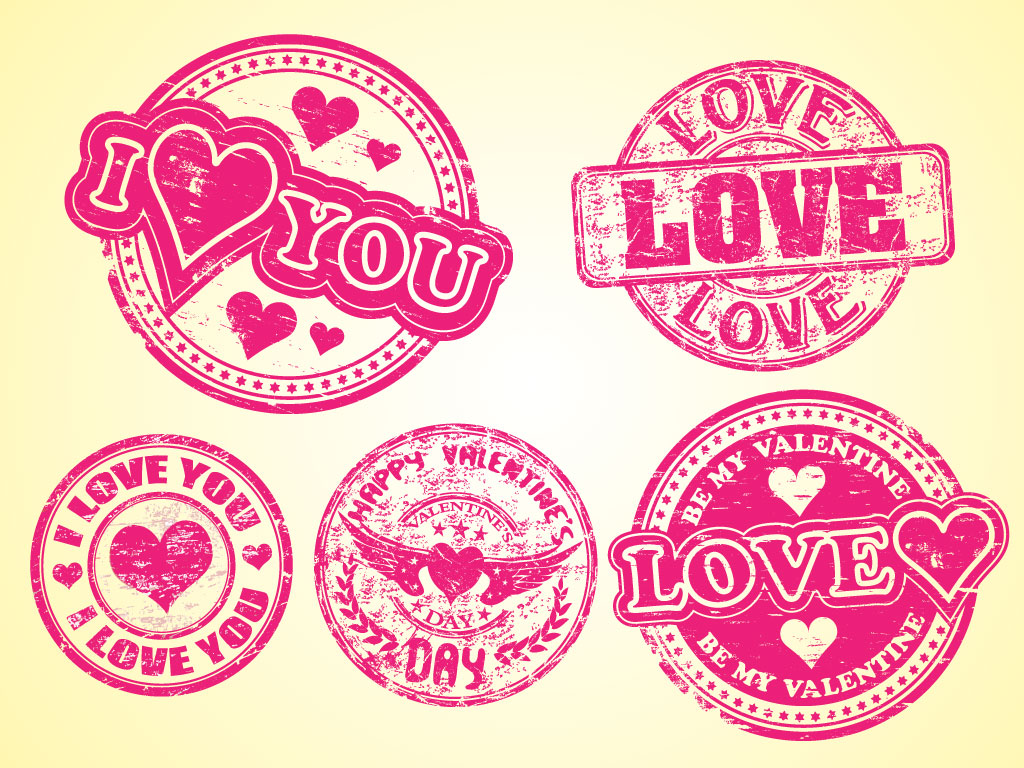 aged love stamps