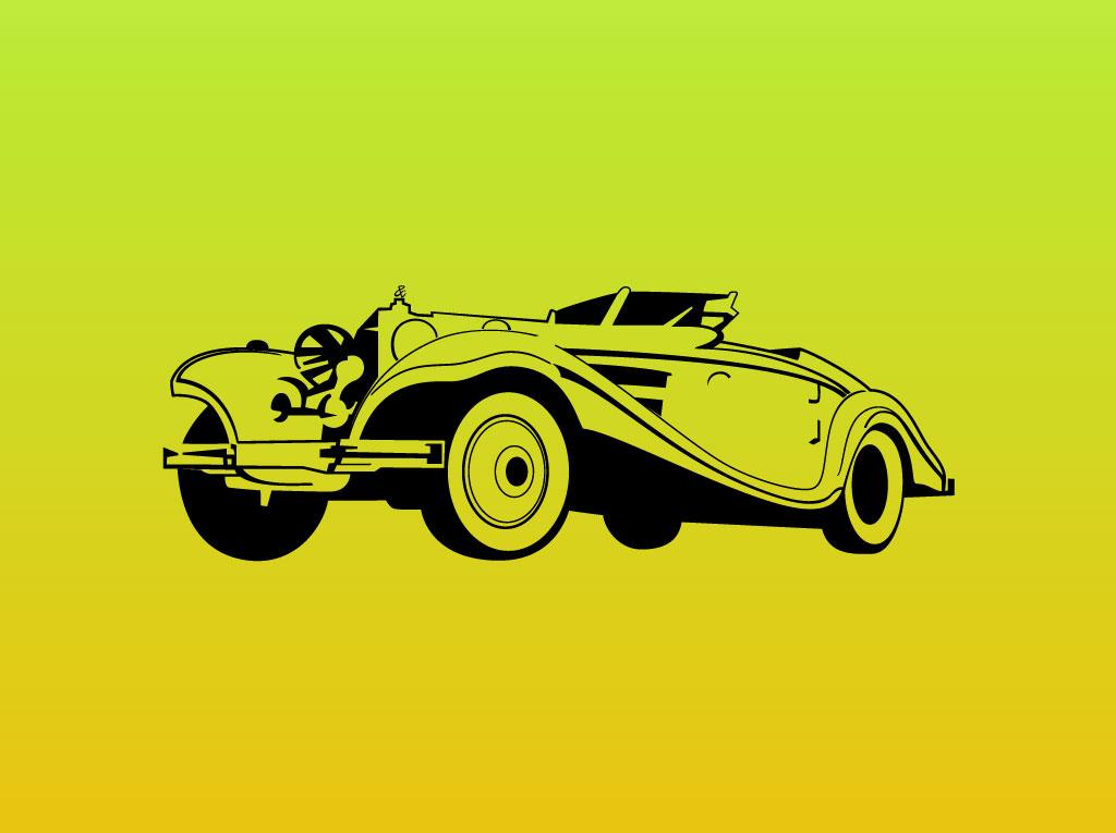 classic car vector graphic