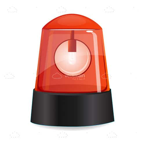flashing red alarm light