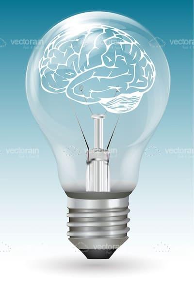 lightbulb with a brain