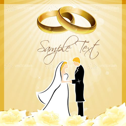 wedding invitation card background with
