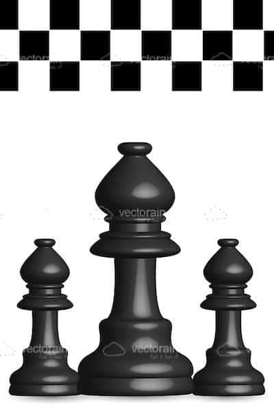 black chess pieces with