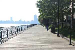 Jersey City boardwalk.