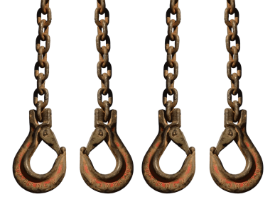 Large hooks for lifting heavy objects
