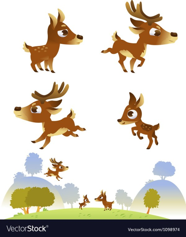 SVG Deer Family