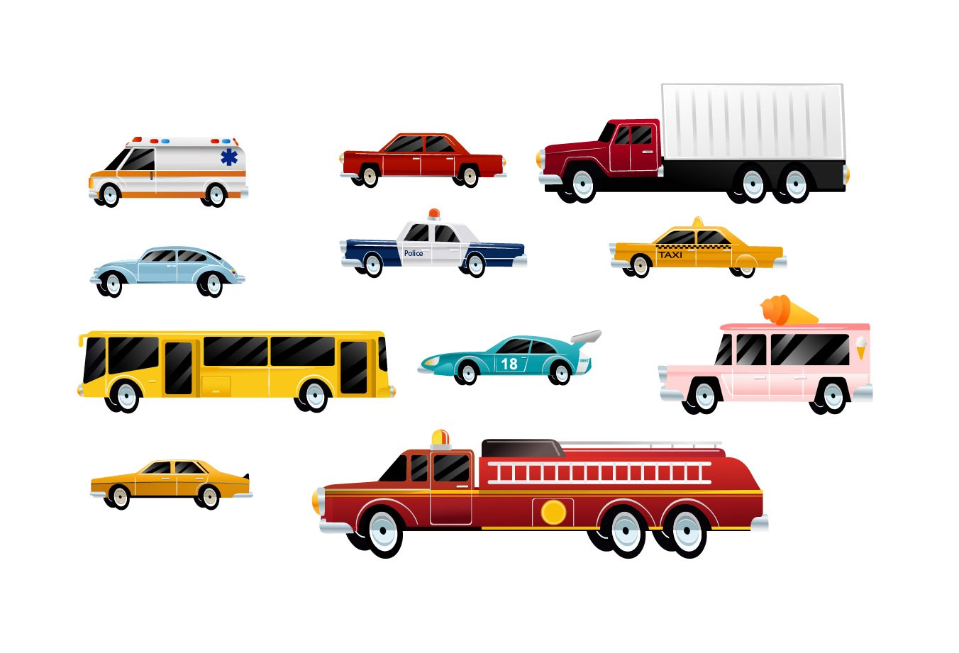 cars vector pack vector