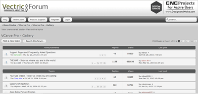 Vectric VCarve Desktop Forum Support