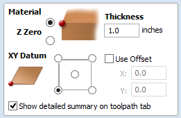 Vectric Material Setup