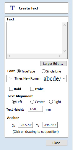 Vectric VCarve Desktop Text Tools
