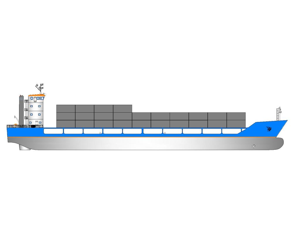 medium resolution of 200teu container vessel