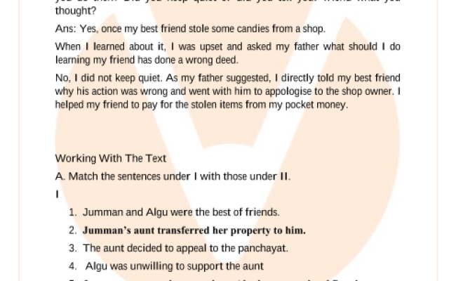 Ncert Solutions For Class 6 English Honeysuckle Chapter 7