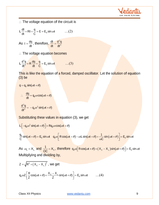 CLASSNOTES: Class 12 Physics Chapter Alternating Current Notes