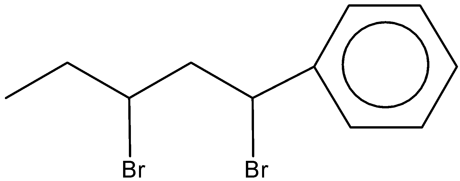 The structure of 2 3dibromo1phenylpentane is A B C class