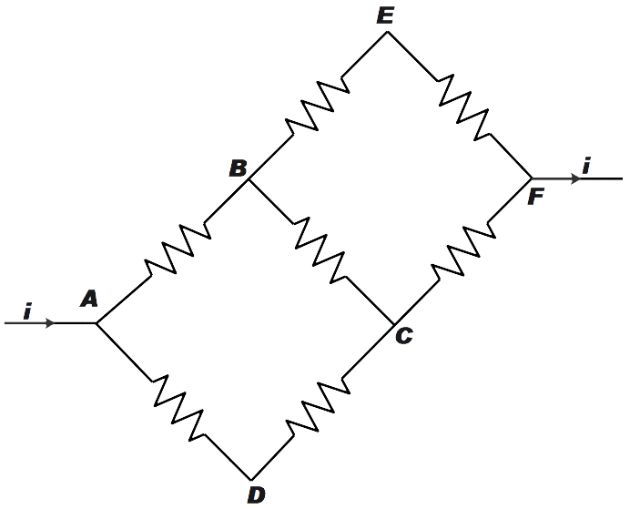 In the adjoining circuit diagram each resistance is class