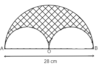 In the given figure a semicircle is drawn with the class