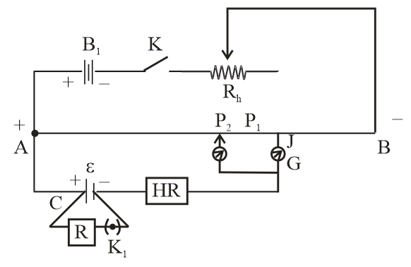 Draw the circuit diagram of potentiometer which can class