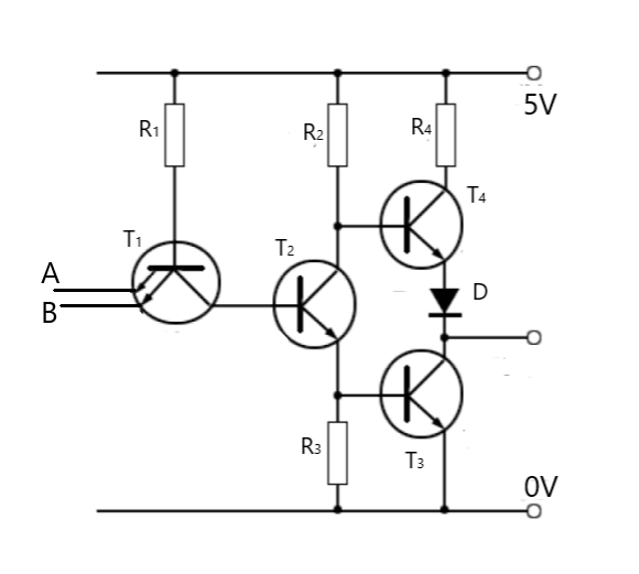 Draw the circuit diagram of TTL NAND gate and explain