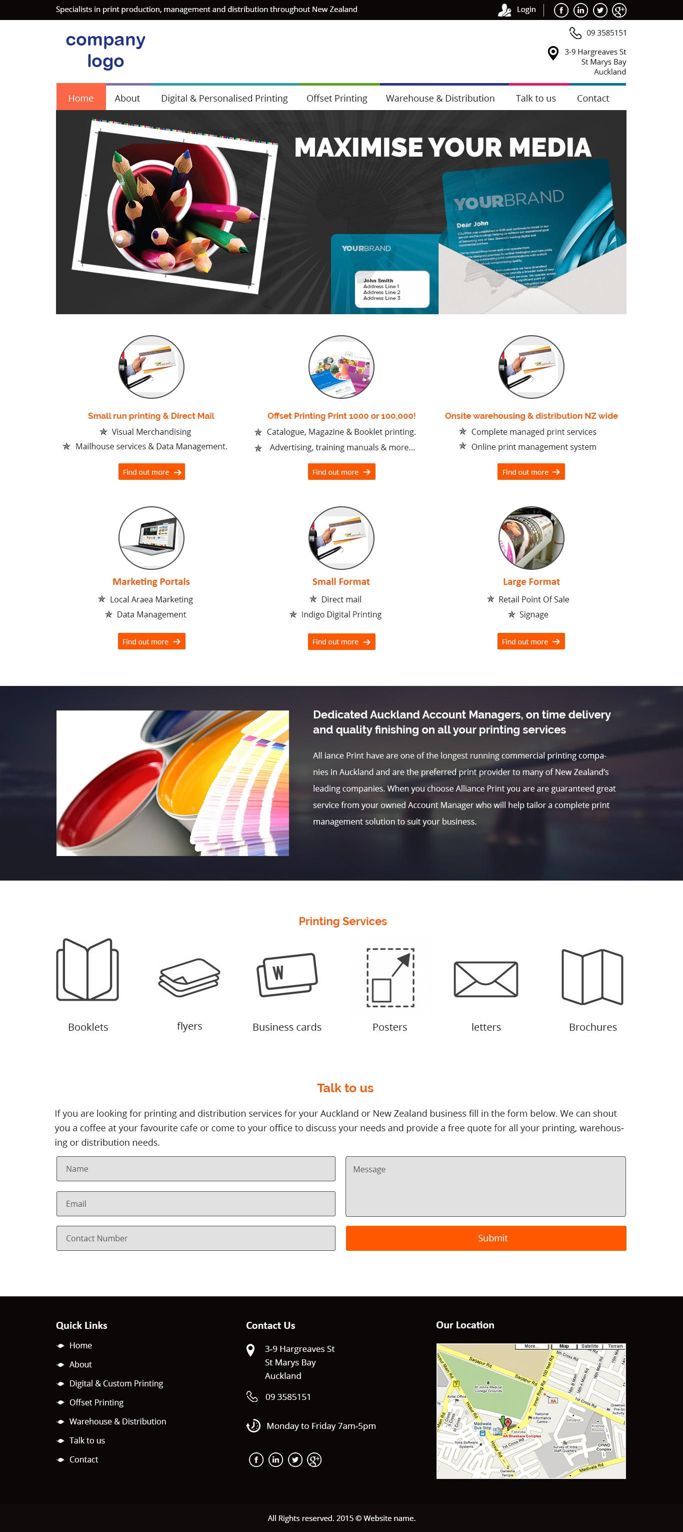 Print & Media Service Website Template