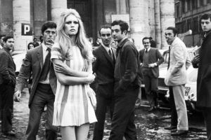 French model Brigitte Bardot in Italy 1969