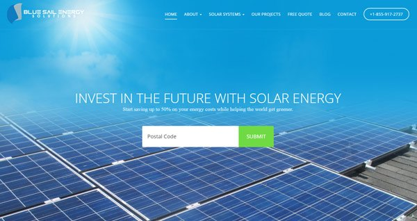 Blue Sail Energy Solutions Website
