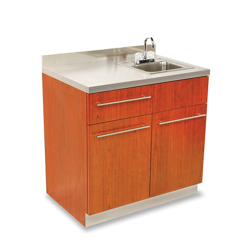 Dispensary Sink Cabinet with Stainless Steel Counter