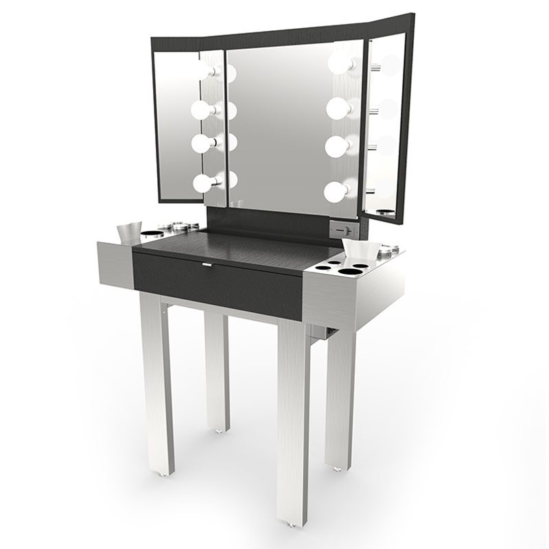 Redman Stainless Steel Makeup Station  Veeco Salon