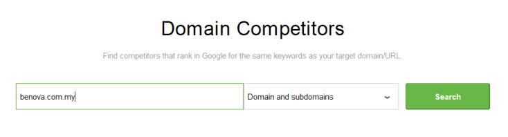 domain competitor analysis in rank tracker