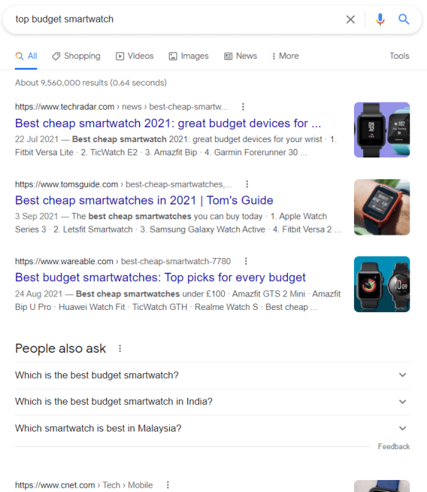 example of listicle article that rank on first page of google