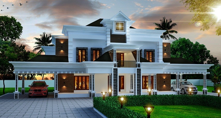 4356 Sq Ft Double Floor Contemporary Home Design Veeduonline