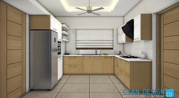 75 Square Feet Contemporary Modular Kitchen Interior Design