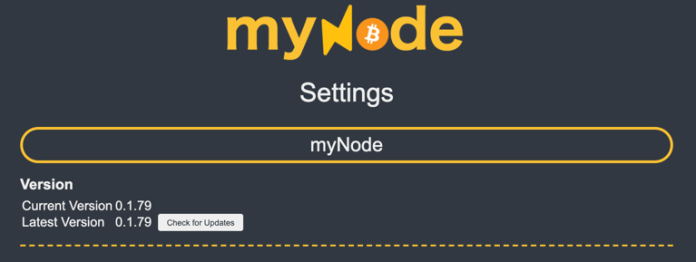 myNode latest