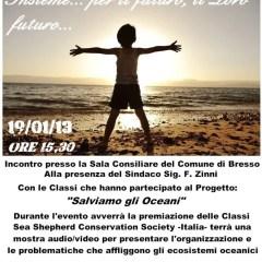 Sea Shepherd: il 19/1/2013 a Bresso premia i bambini!