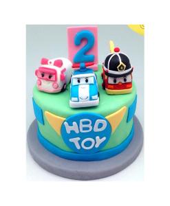 เค้ก3มิติ เค้กวันเกิด Robocar