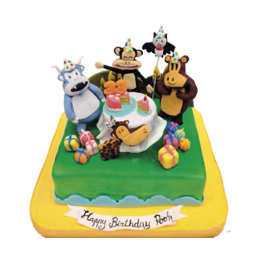 เค้ก3มิติ เค้กวันเกิด Paul Frank