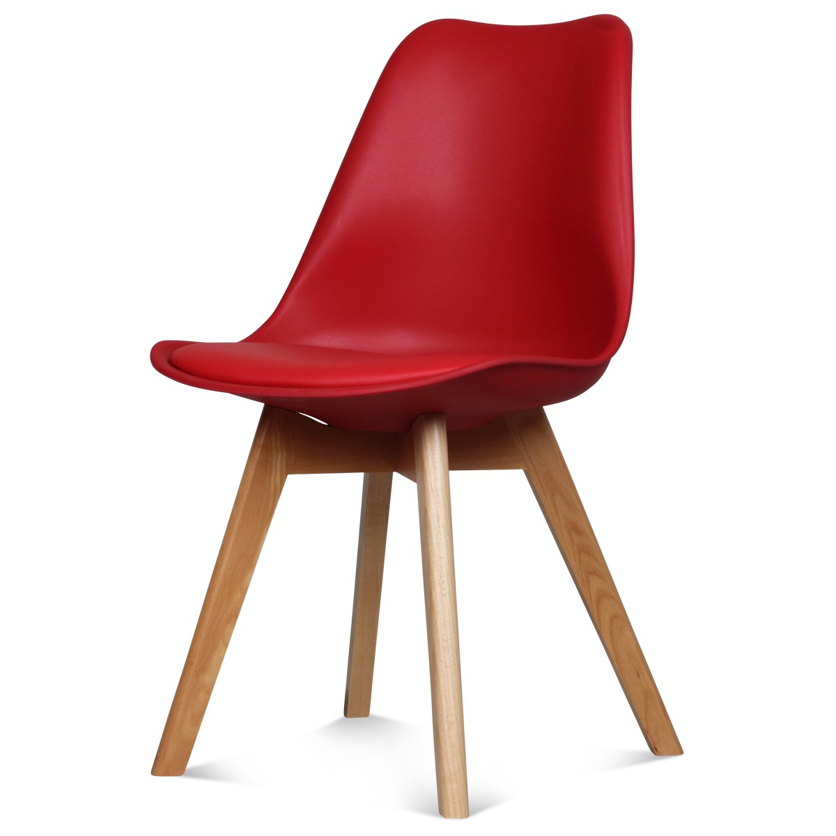 chaise scandinave rouge 48 x 43 h 83 cm a seulement 49 50