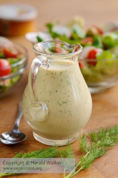 Vegane SenfDill Salatsauce  Vegalicious Rezepte