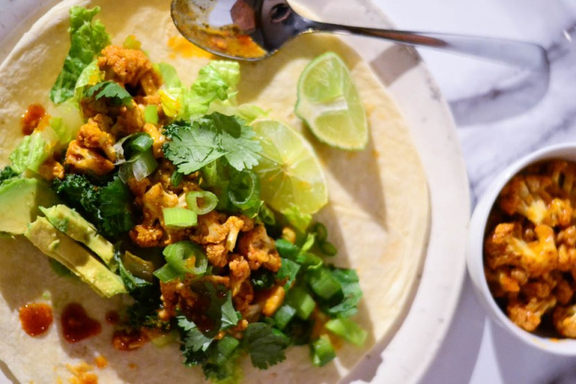 Browse our vegan dinner ideas to find delicious vegan recipes like these Hot & Spicy Buffalo Cauliflower Tacos. #veganrecipes #veganfood #recipeoftheday #tacotuesday