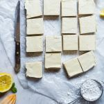 I love this vegan dessert recipe and, if you love lemon bars you will too! It's perfectly tart with just the right amount of sweetness. #veganrecipes #veganfood