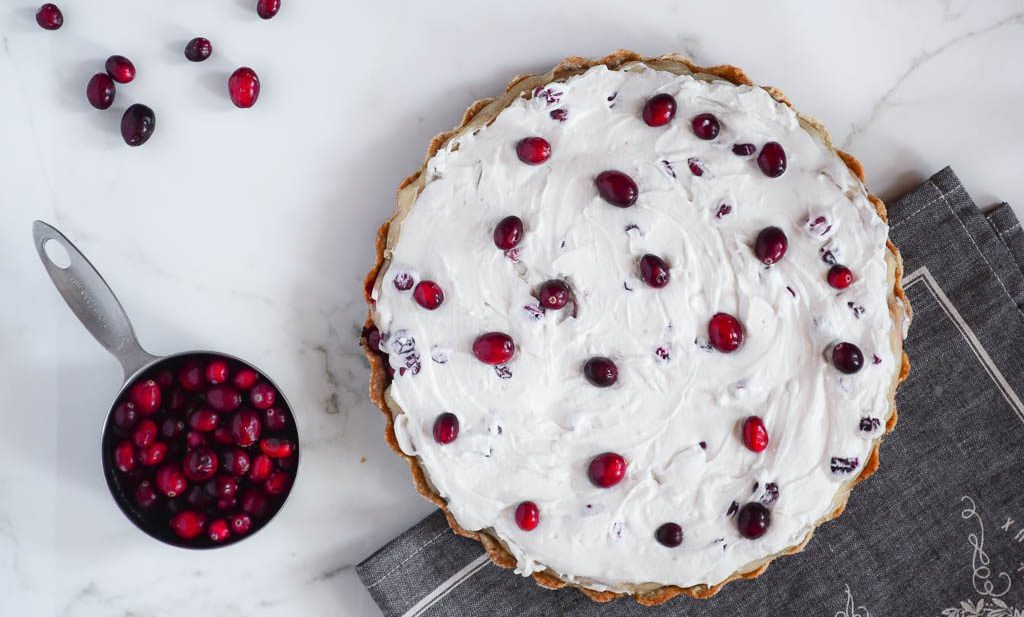 Cranberry Custard Tart