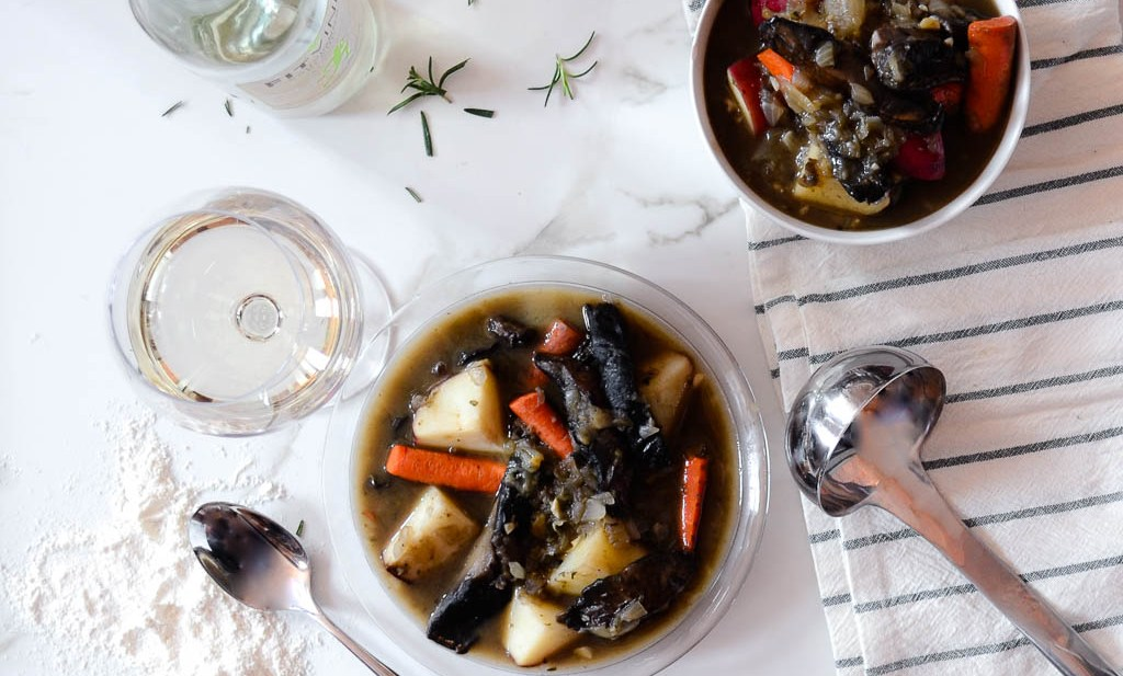 Ultimate Portobello Mushroom & White Wine Stew