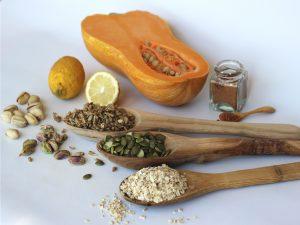Ingredientes para hacer Falafel de Semillas y Pistachos