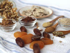 Ingredientes para hacer Galletas Raw