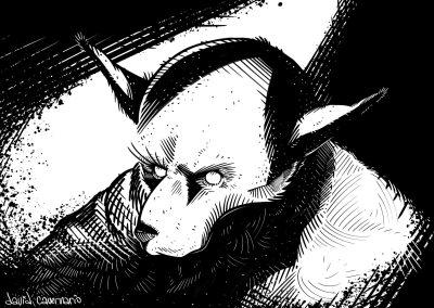 Dibujo del Home Llobu hecho por Davi