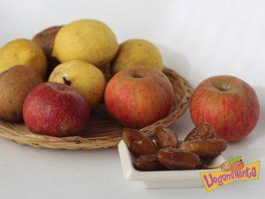 Ingredientes para hacer crema de manzana sin azúcar.