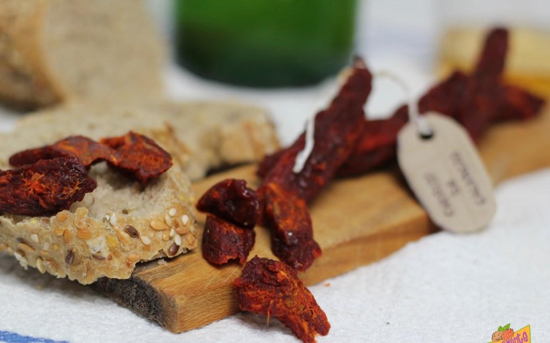 Choriganos o Chorizos Veganos de Calabaza.