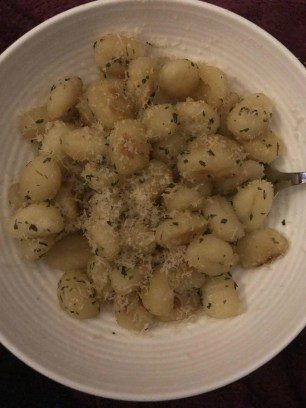 Fried Gnocchi with brown butter, sage & parmesan