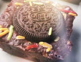 Oreo Birthday Party Brownies